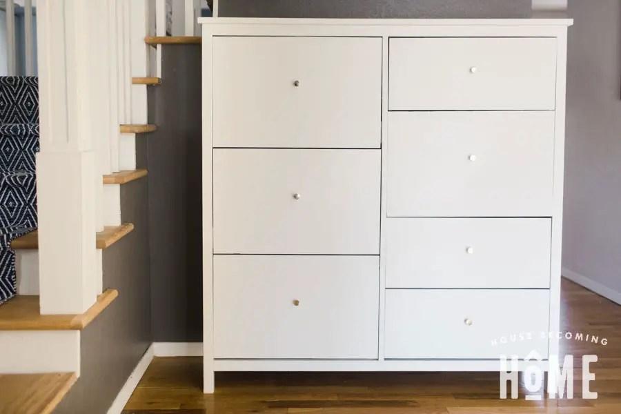 DIY Shoe Cabinet 7 drawers