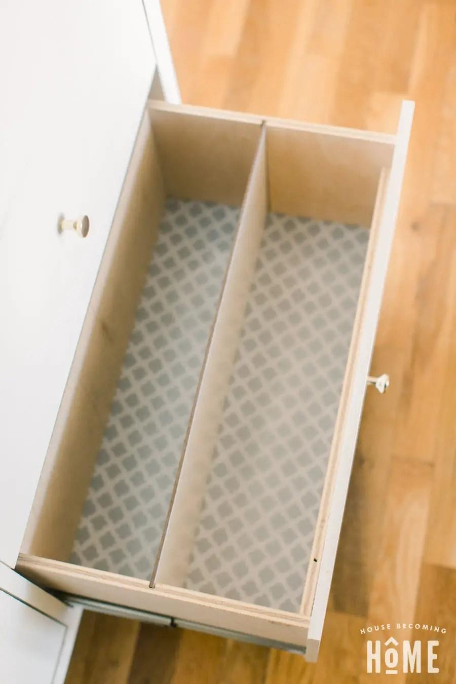 Waterproof Drawer bottom of DIY Shoe Cabinet