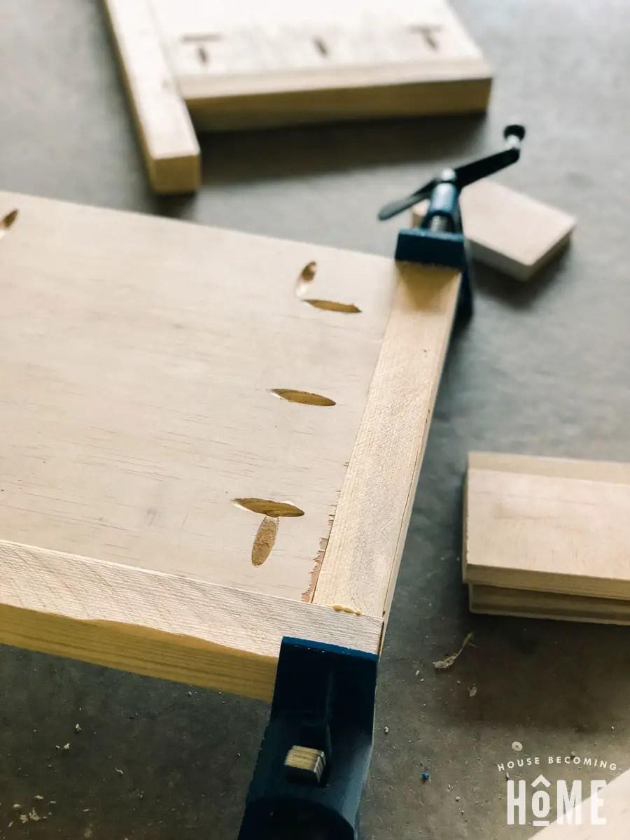 making shoe cabinet sides with pocket holes