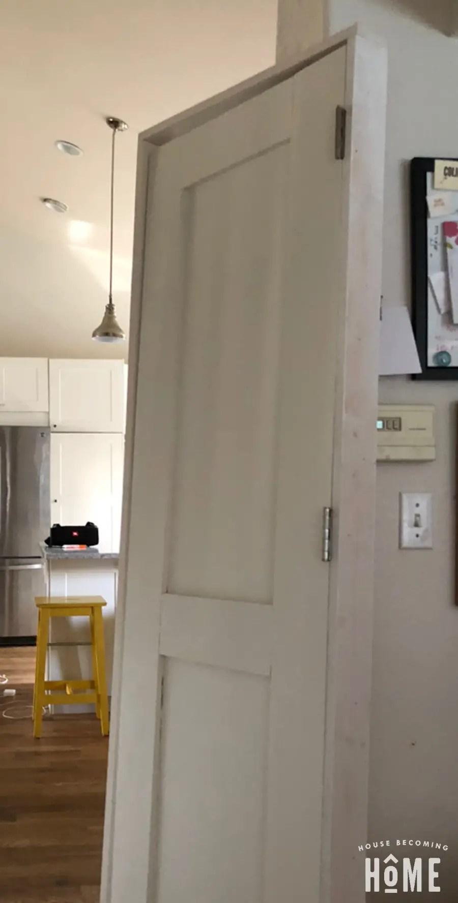 DIY Door in DIY Door Frame