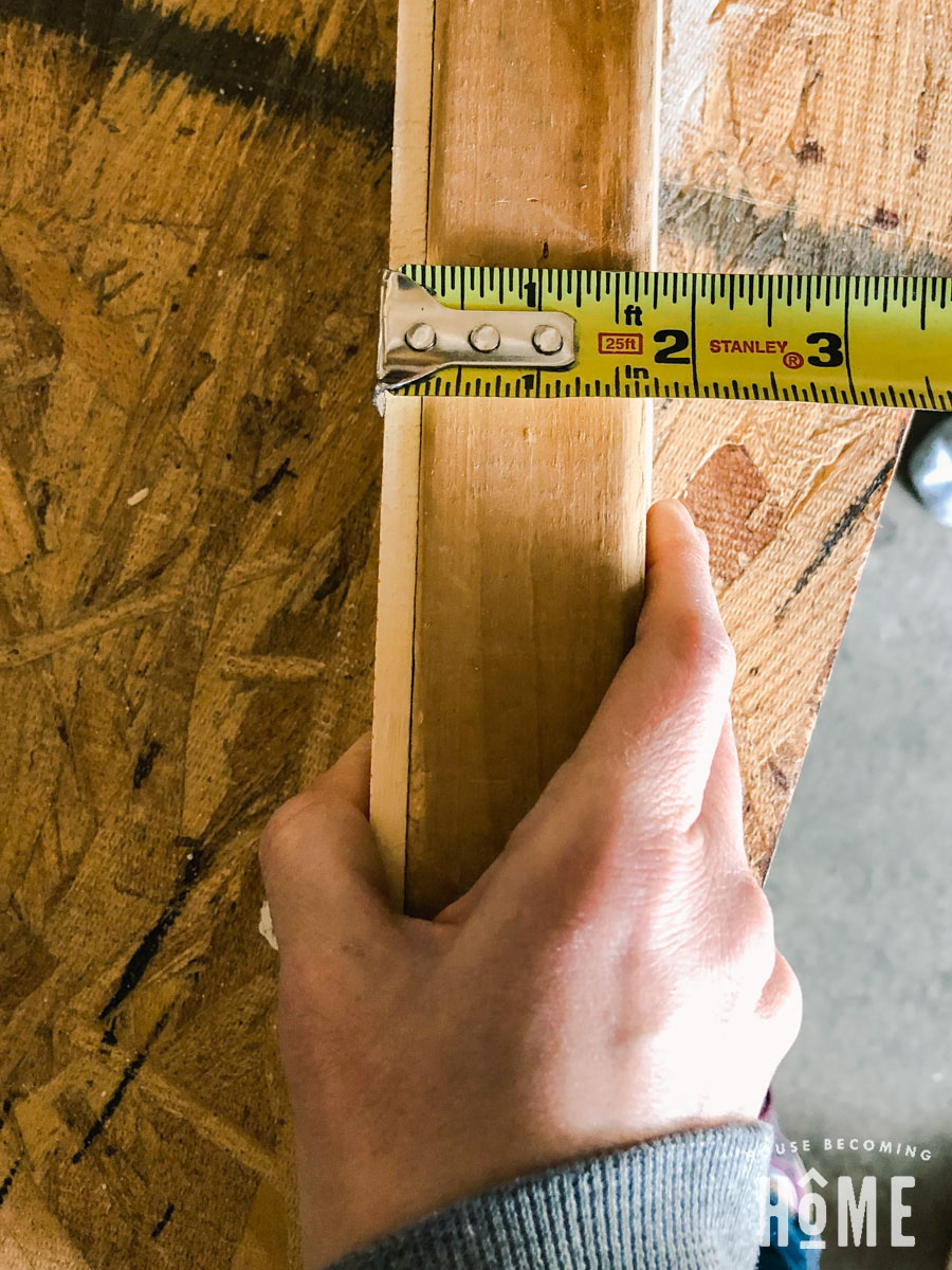 Thickness of 2x6 with Paint Stick To Set thickness of Milescraft Mortising Jig