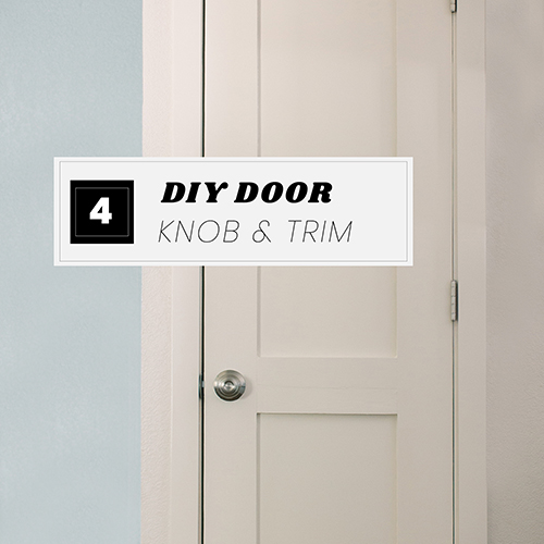DIY Door Series Part 4: Adding a Door Knob & Installing Door Trim