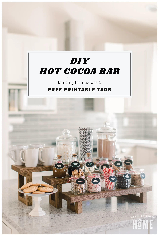 DIY Hot Cocoa Bar with Free Printable Tags