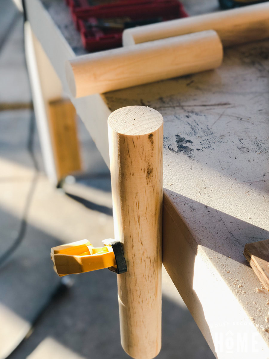 Making Legs for DIY Stool