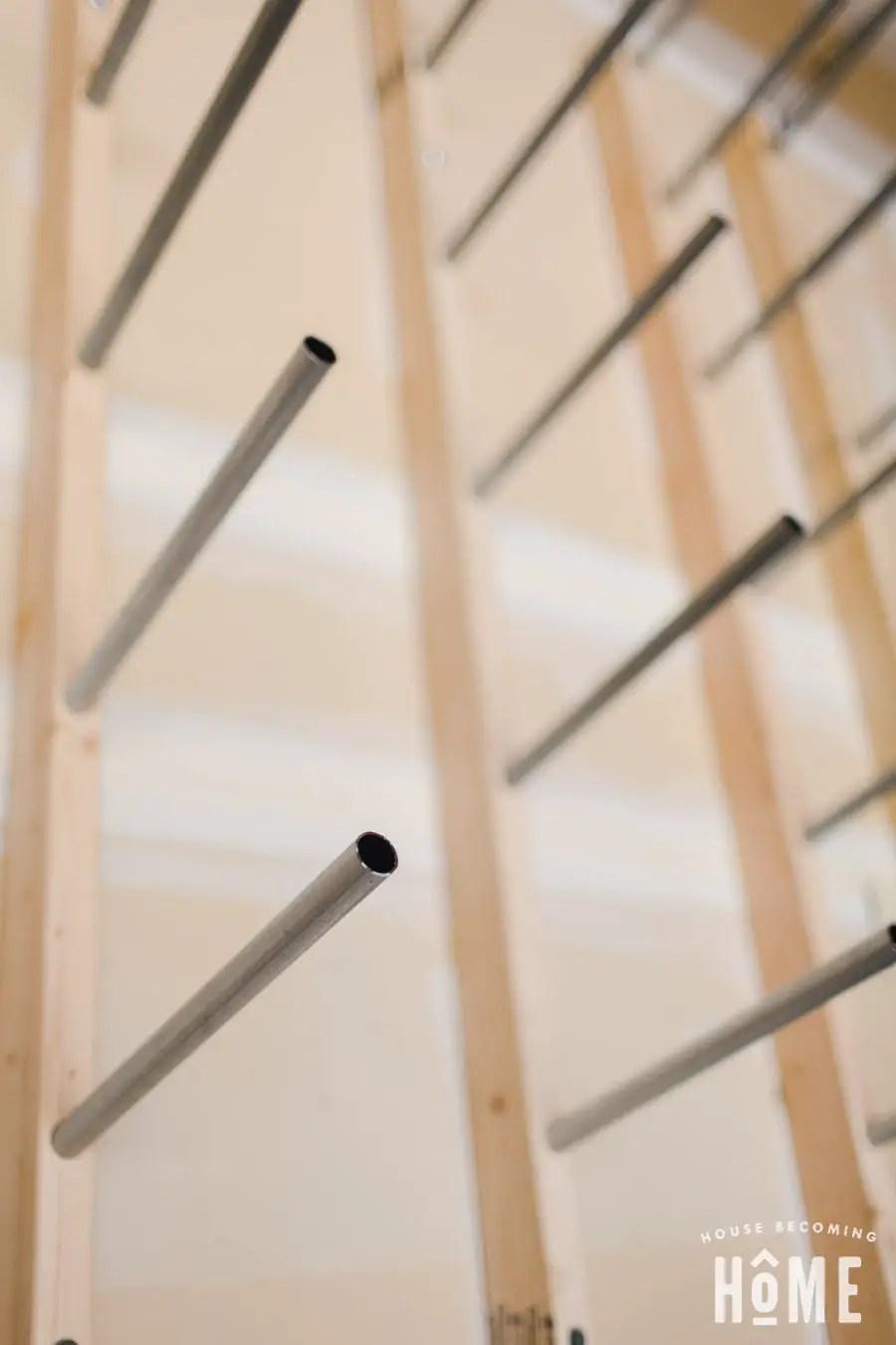 Conduit in Lumber Rack Bottom View