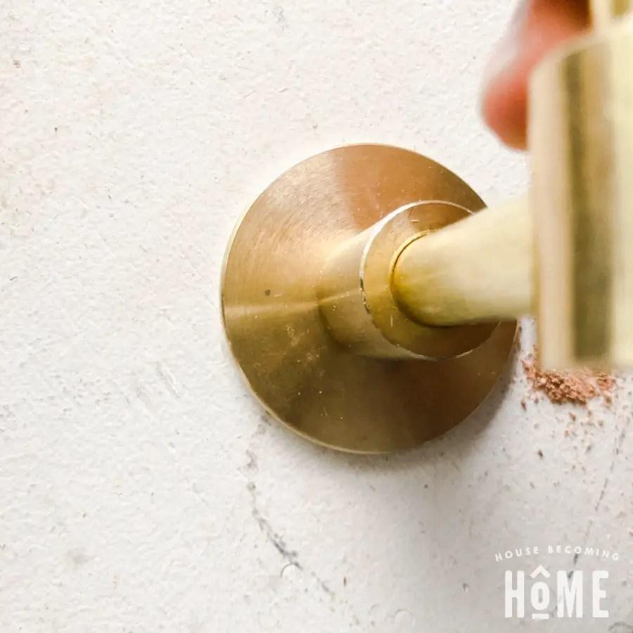 Mark Hole for Toilet Paper Holder