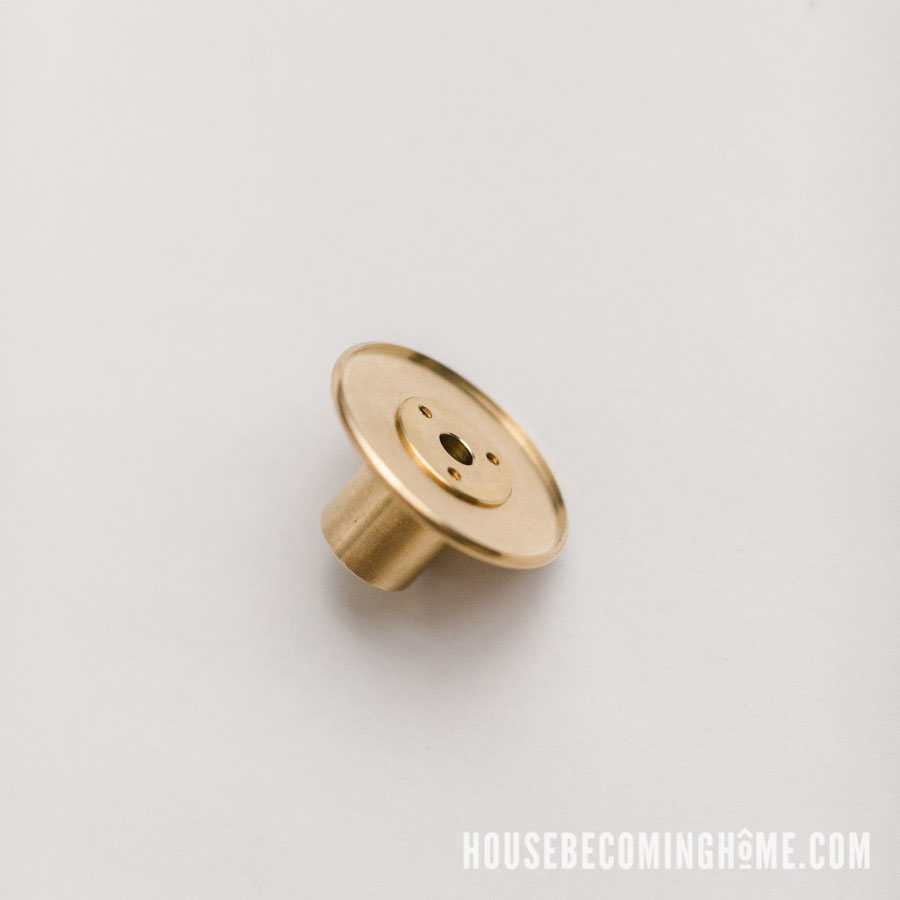 Attach Brass Coupling to Brass Flange Back View