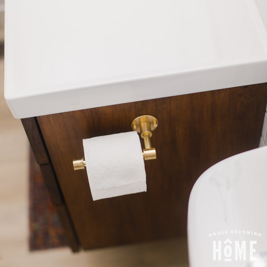How to Make a Brass Toilet Paper Holder : Easy DIY Project