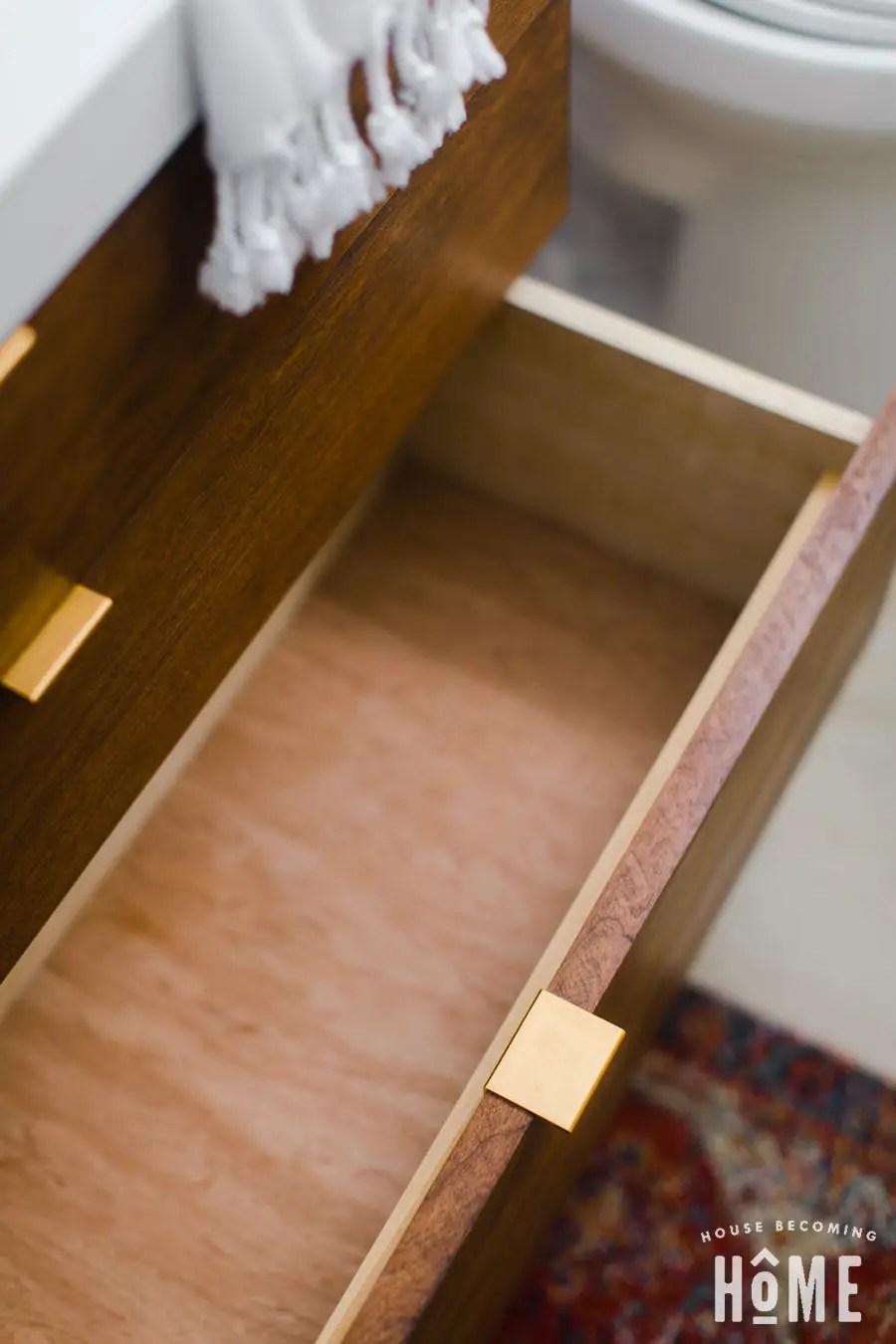DIvanity Plans for Ikea Odensvik Sink Drawer Open