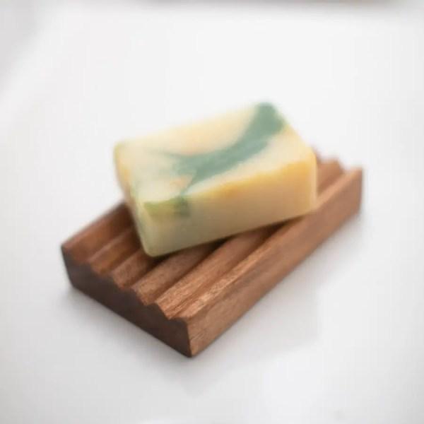 Handmade Wooden Soap Dish : Cherry Dark Finish
