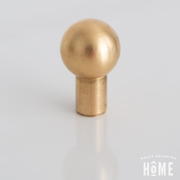Solid Brass Cabinet Knob Ball