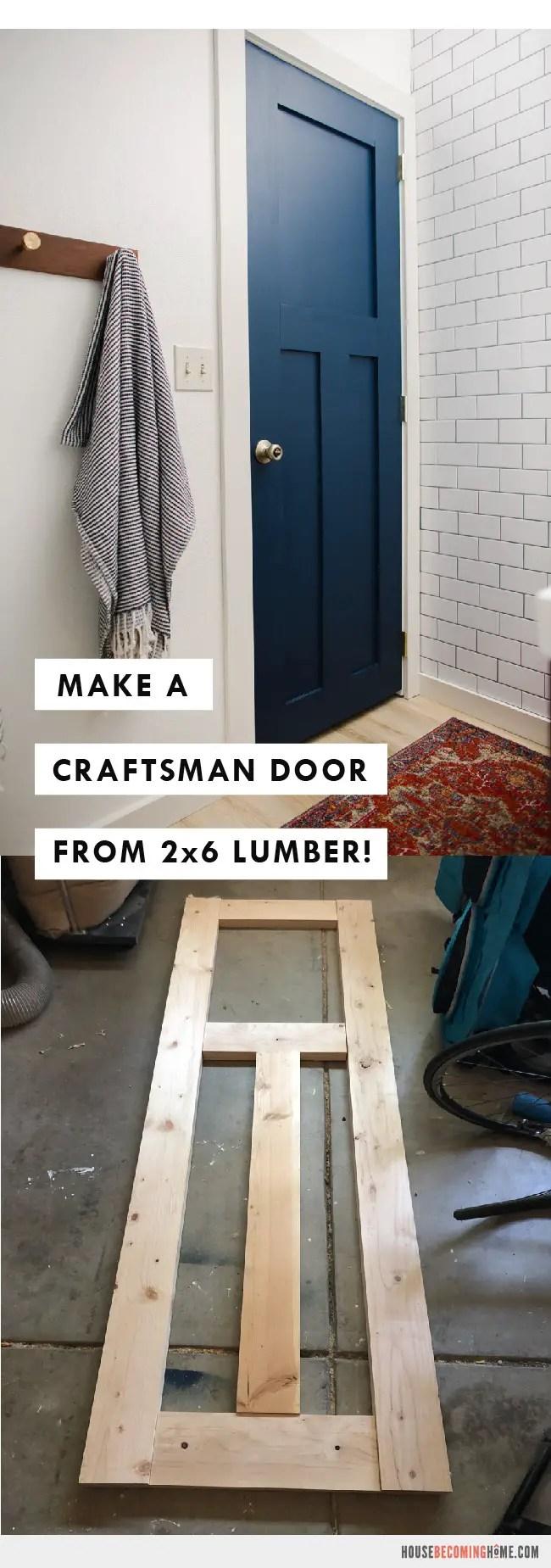 Make a Door from 2x6 Lumber Tutorial