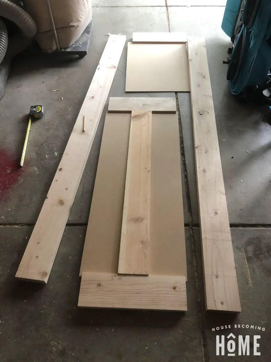 Cut Panels for DIY Door