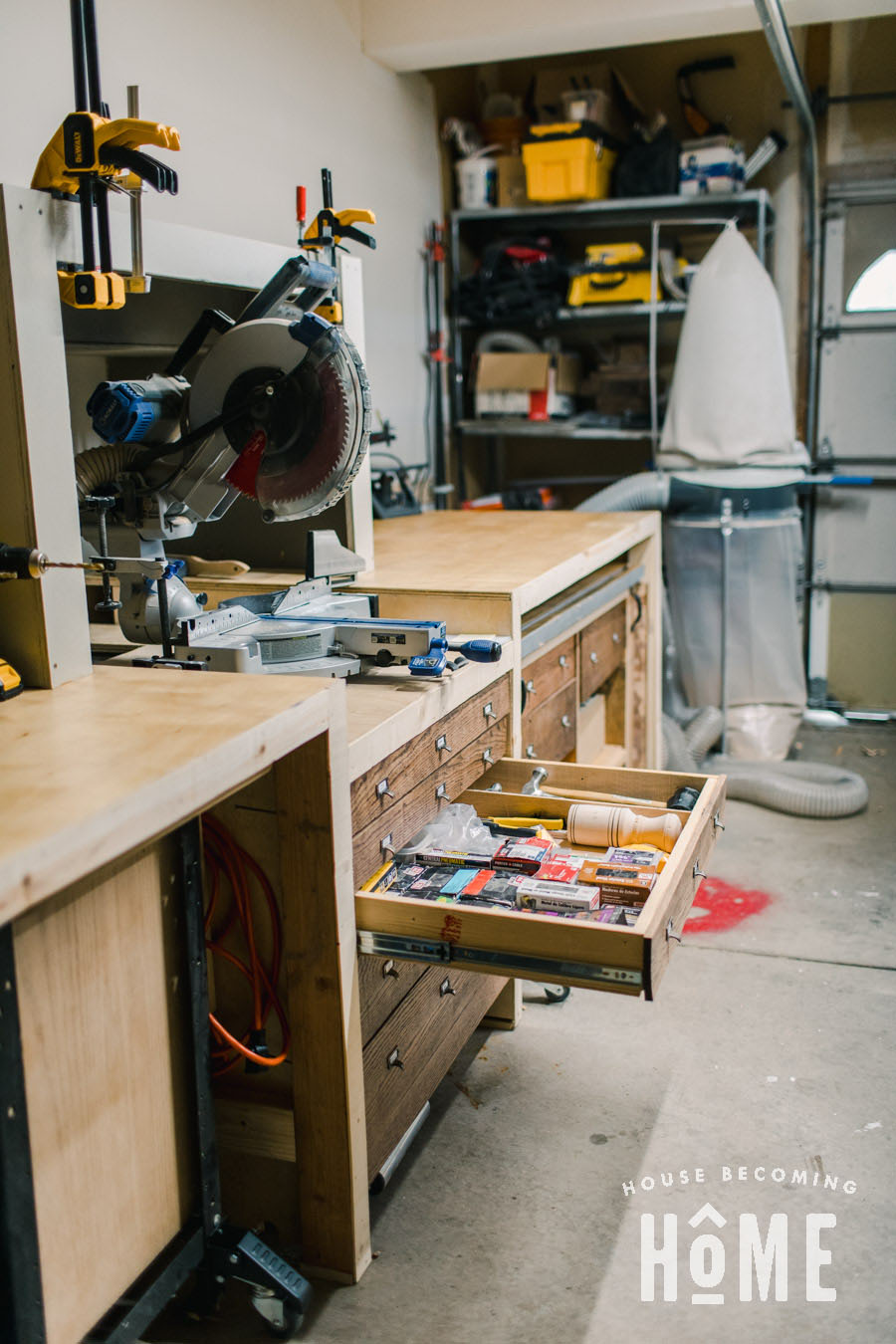 Garage Workshop Storage Drawers for Small Tools and Parts
