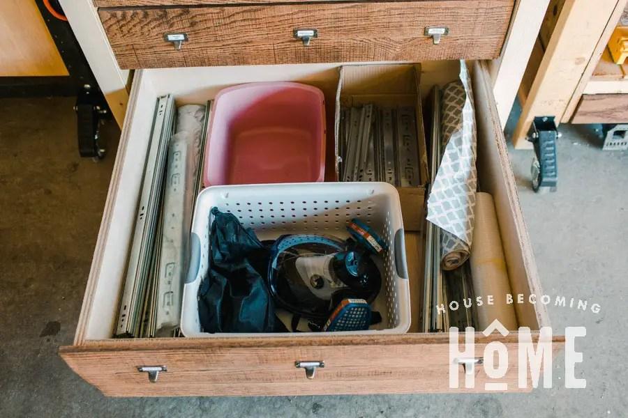 Safety Gear Storage Drawer
