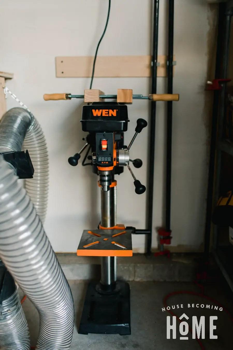 Drill Press Storage