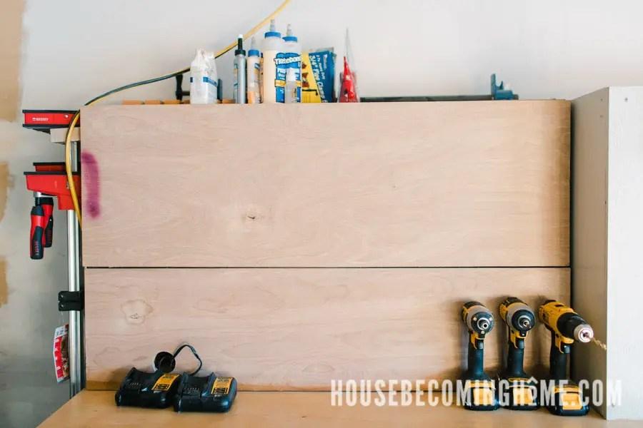 Closed Cabinet Garage Workshop