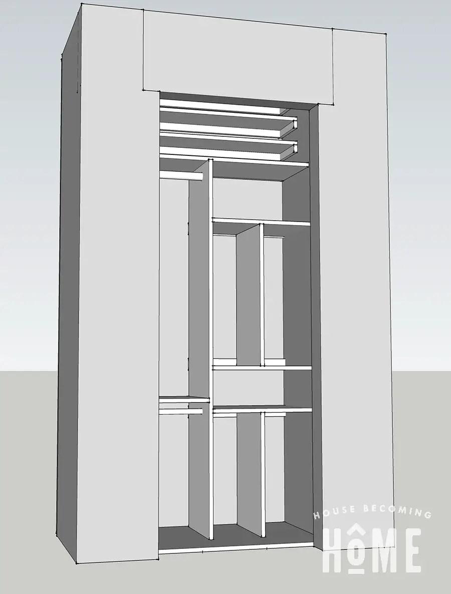 Closet Organization Sketch