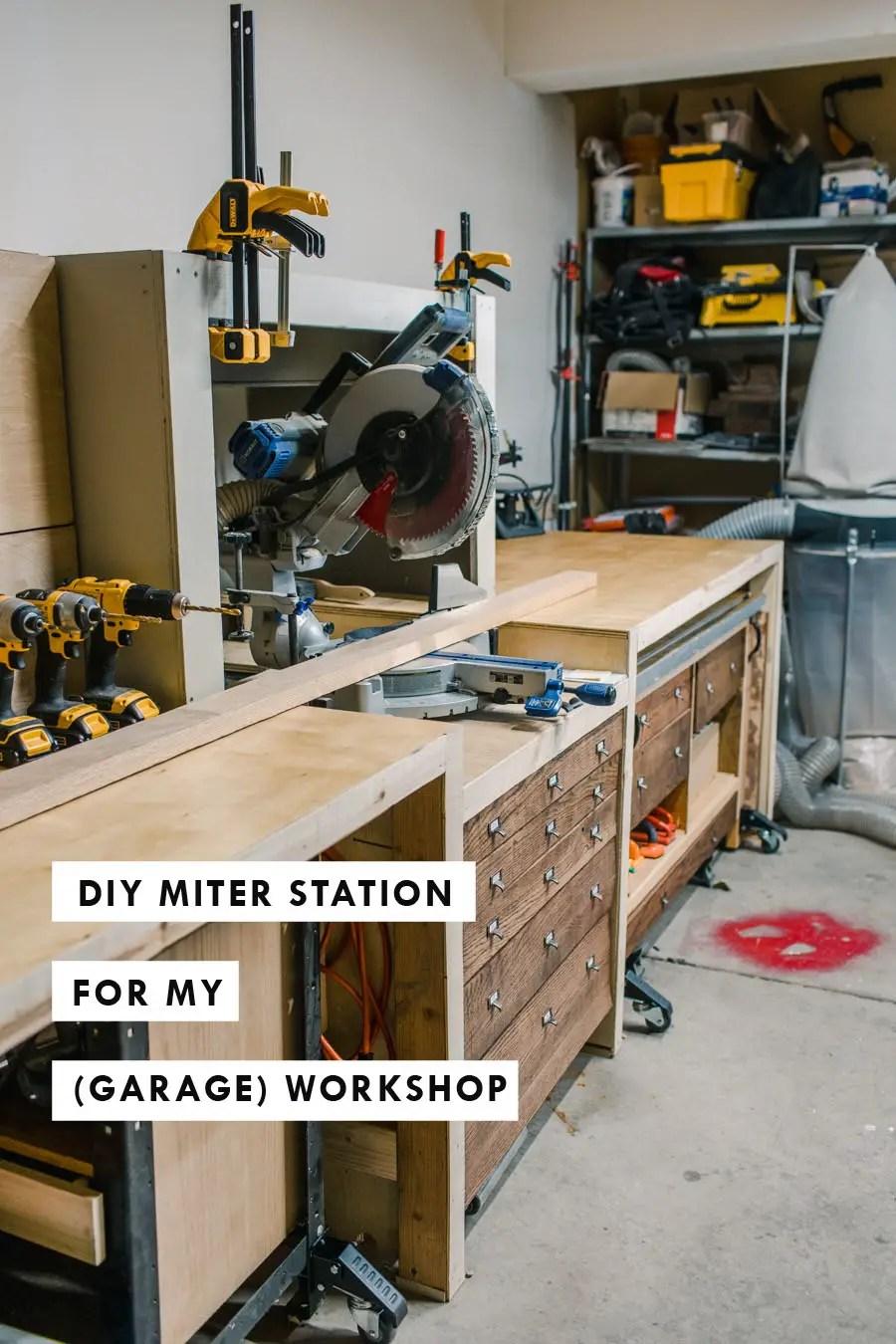DIY Miter Station for my Garage Workshop