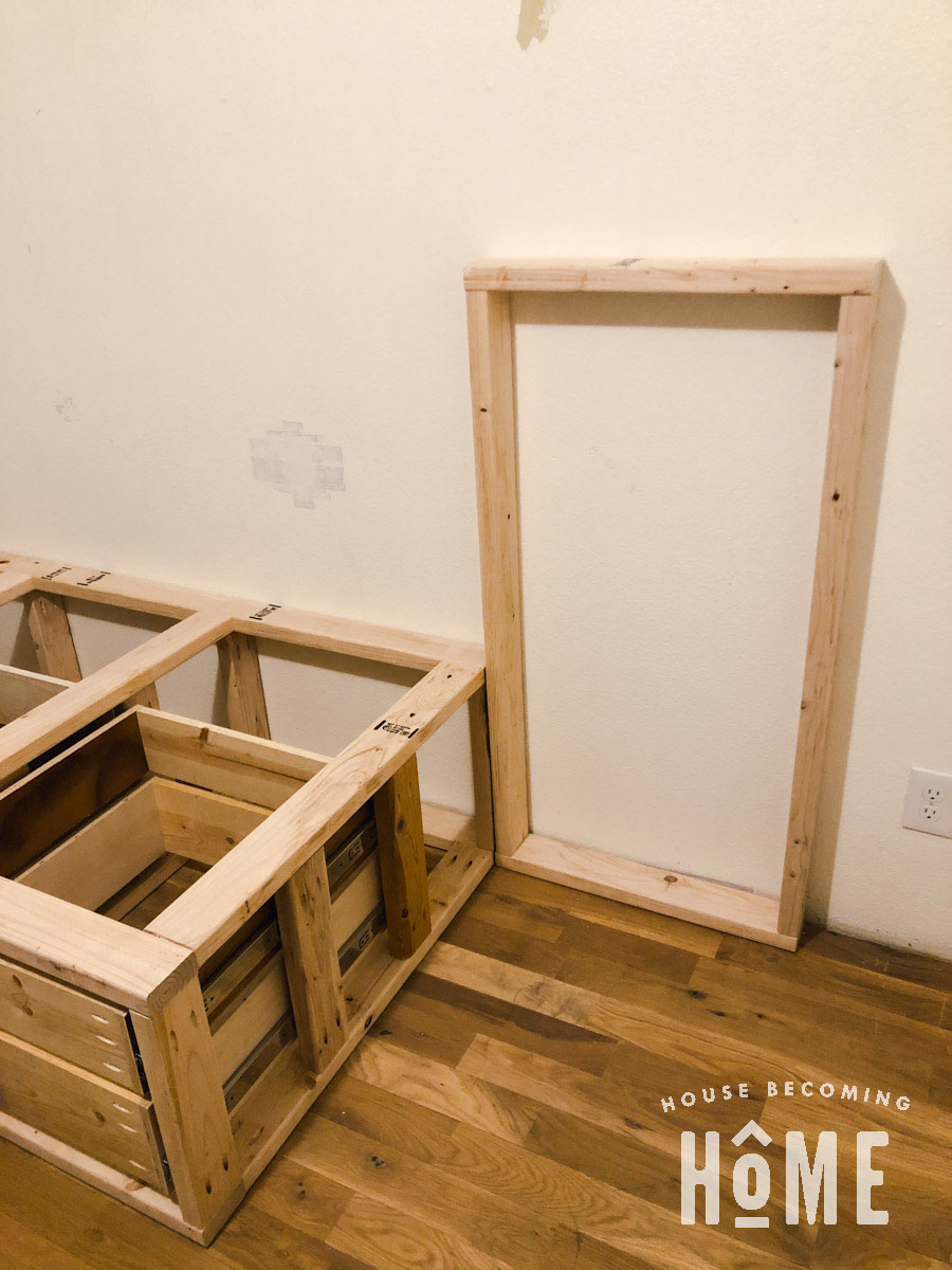 Build Center Section for Built in Offset Bunk Beds