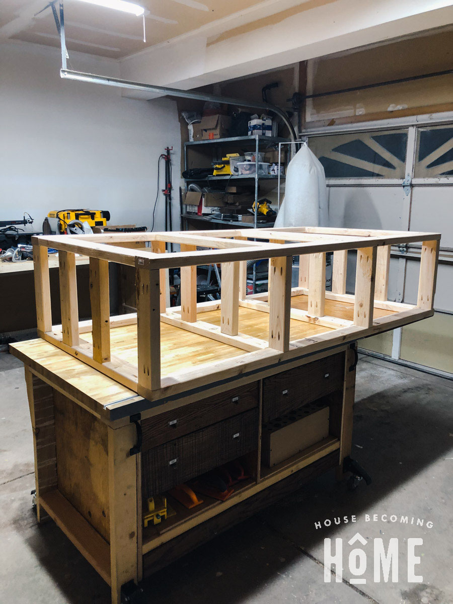 Completed Frame for Bottom Bunk with Drawers