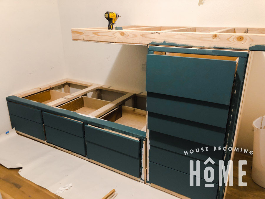 Paint Offset Built in Bunk Beds
