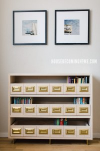 Build a Catalog Bookcase with Brass Legs