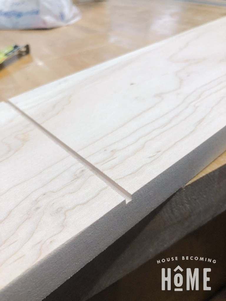 Cut Grooves in Drawer Front
