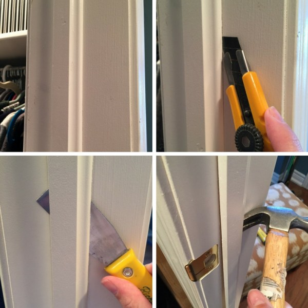 closet door remove trim