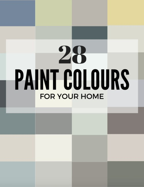 28 Paint Colours for your Home