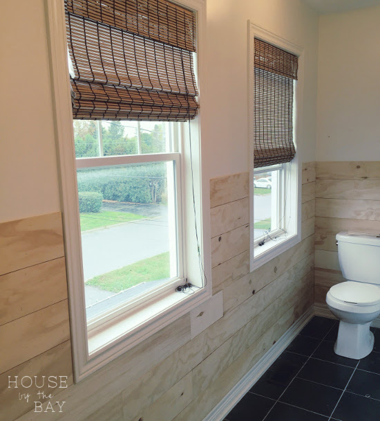 Bathroom Makeover Shiplap Walls