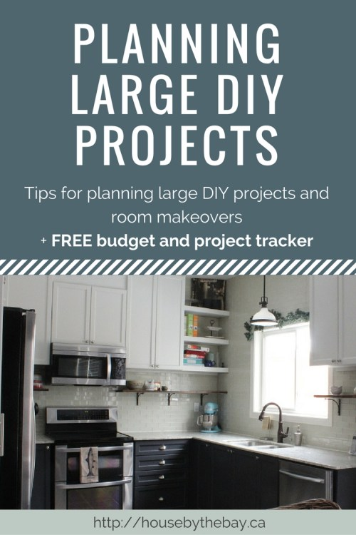Planning a large DIY project or room makeover with free budget and project planner