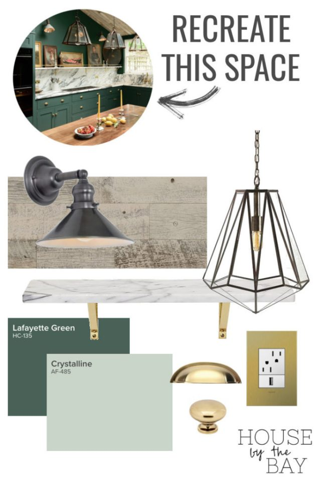 Recreate this space #1: The Dark Green and Marble Kitchen