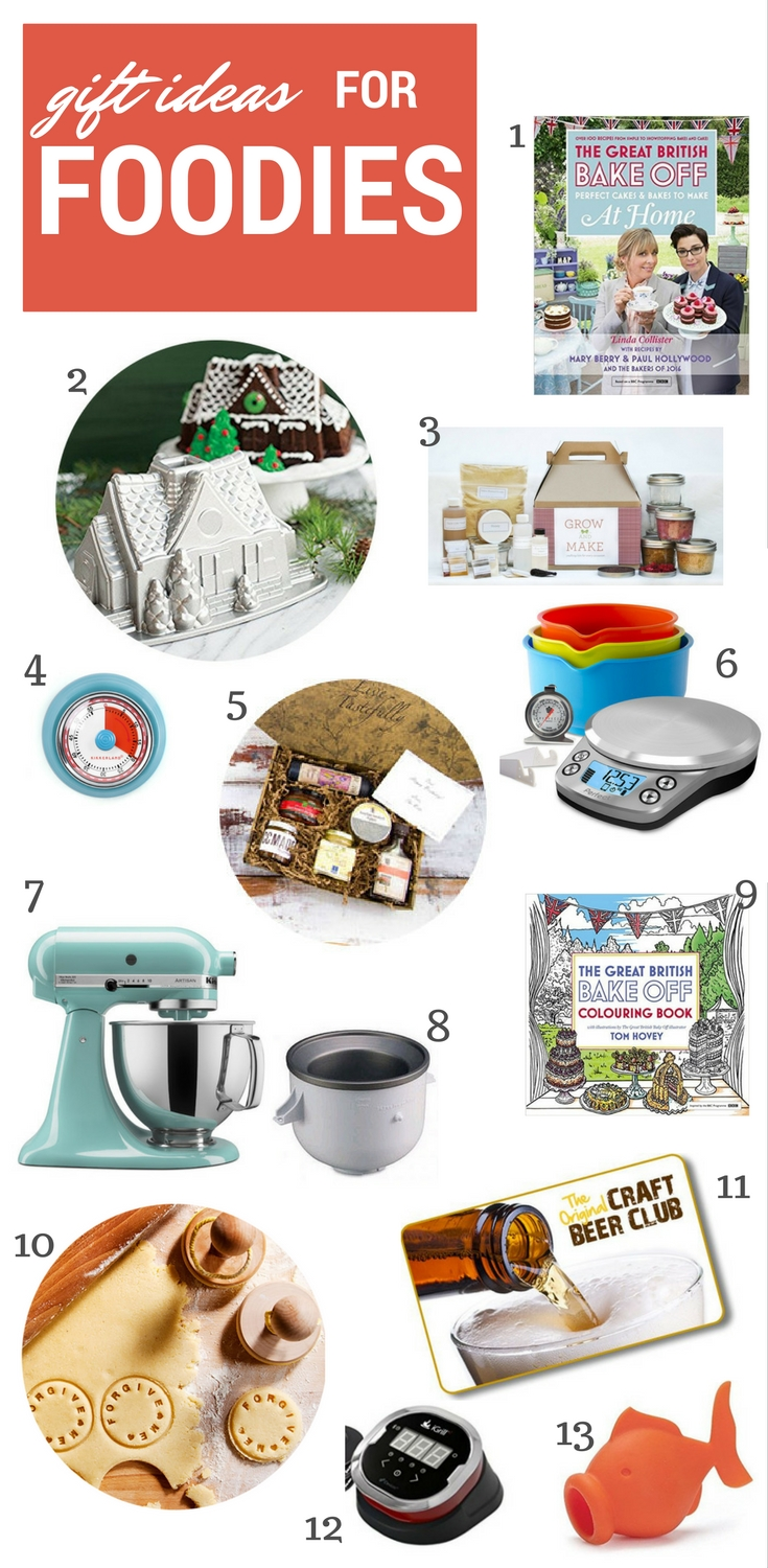Gift ideas for home cooks, bakers and foodies