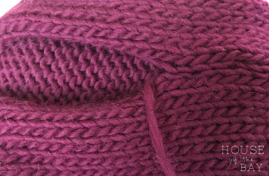 Knitting sweater seams   Kide sweater   House by the Bay