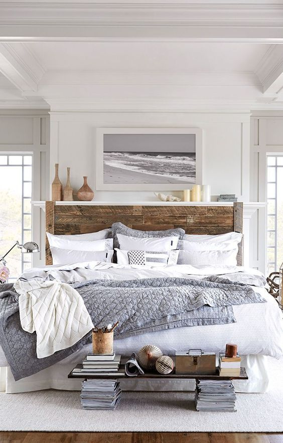 Recreate This Space: Beach House Bedroom | House by the Bay Design on big pink bed, broken water bed, urban loft bed, kravet bed, barry dixon bed, white fence bed, surf shack bed,