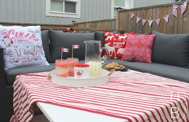 Canada Flag Frozen Cocktails | Canada Day Party Decorating | House by the Bay Design