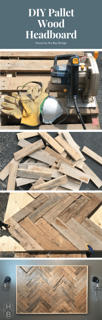 DIY Pallet Wood Headboard | House by the Bay Design