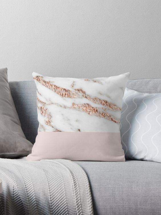 Marble Pillow | 2018 Home Design and Decor Trends | House by the Bay Design