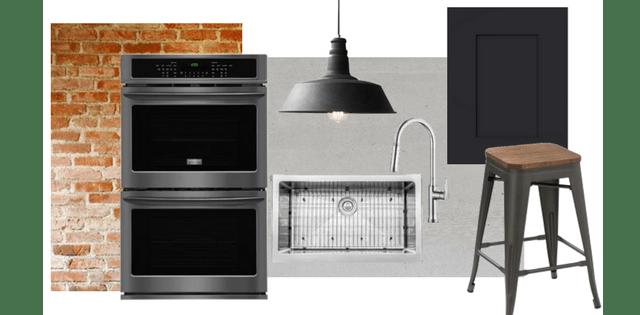 Industrial Loft Kitchen Design   Frigidaire Black Stainless Steel Appliances   House by the Bay Design