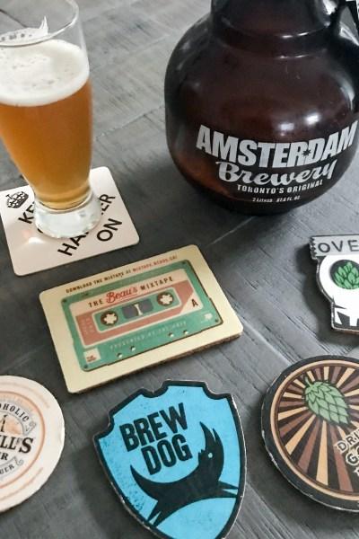 Preserved Cardboard Craft Beer Coasters