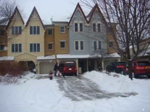 Snowy driveway.