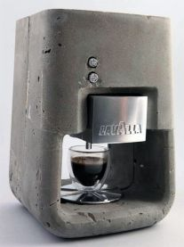 Lavazza in concrete.