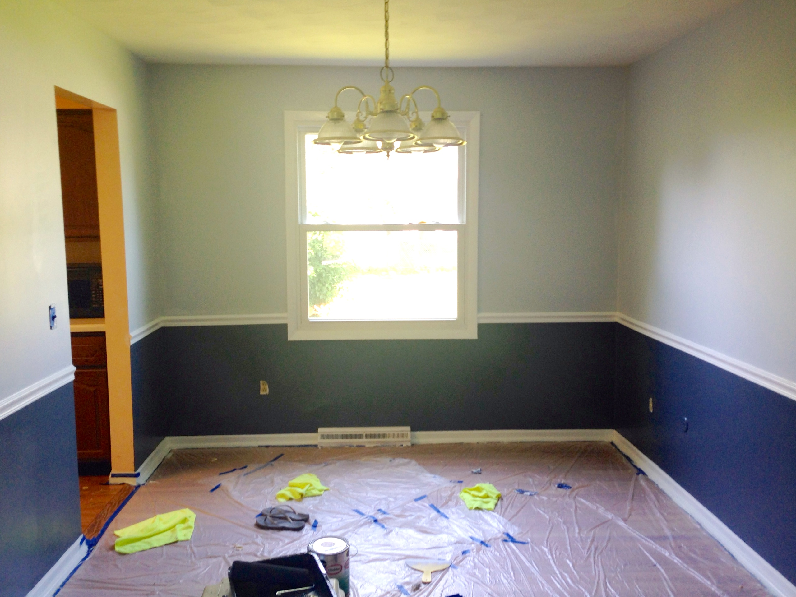 Two Tone Walls With Chair Rail Just Keep Painting House Chemistry