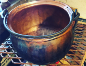 vintage copper cookware, old copper, pure copper, american copper, tinsmith, coppersmith, repairing copper cookware, copper cookware repair, retinning, copper retinning
