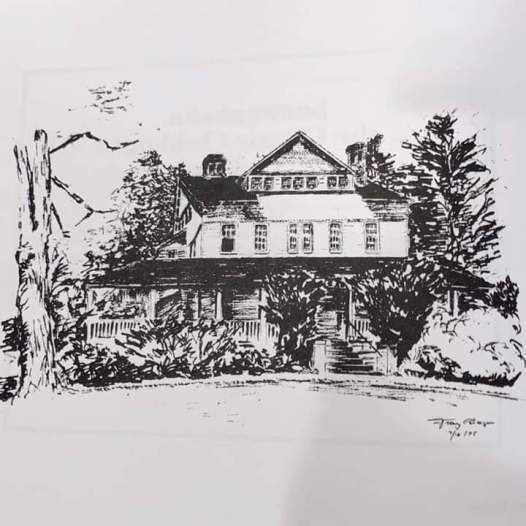 historic house drawing