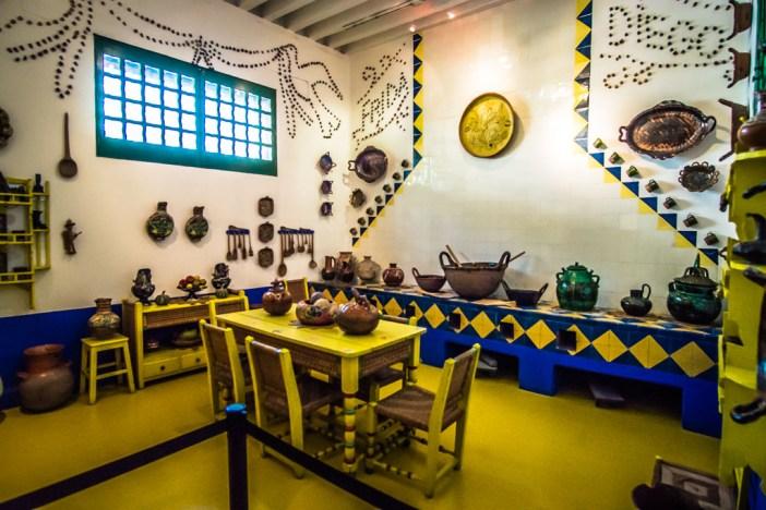 inside Frida Kahlo's blue house