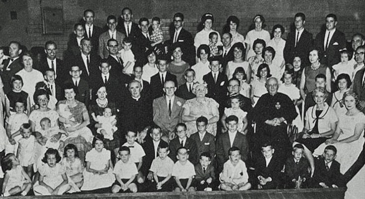 large Irish family