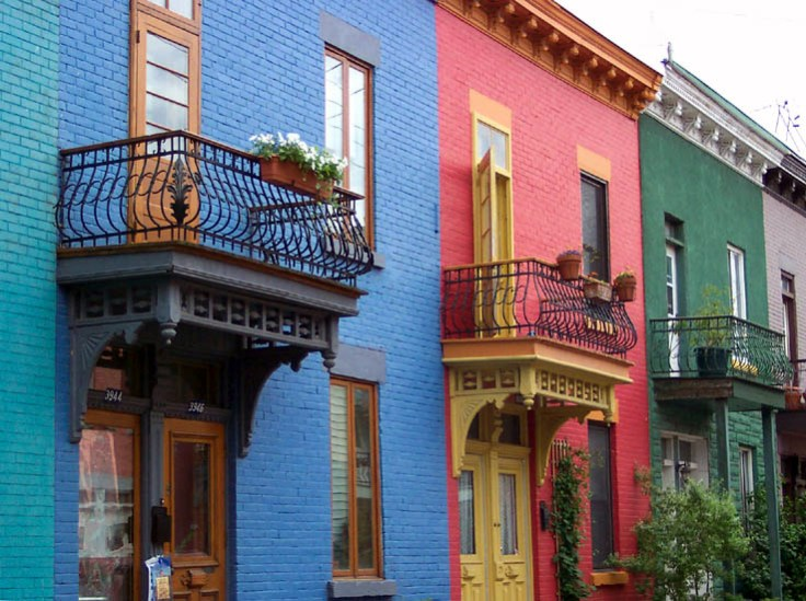 Plateau Mont-Royal colorful row houses