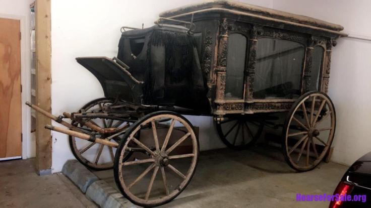 antique horse drawn hearse Cunningham & Sons for sale